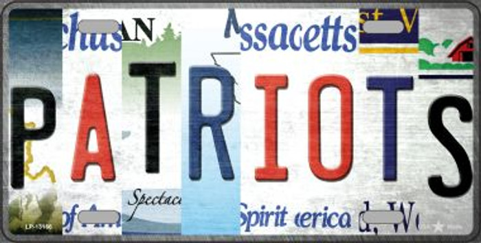 Patriots Strip Art Novelty Metal License Plate Tag LP-13166