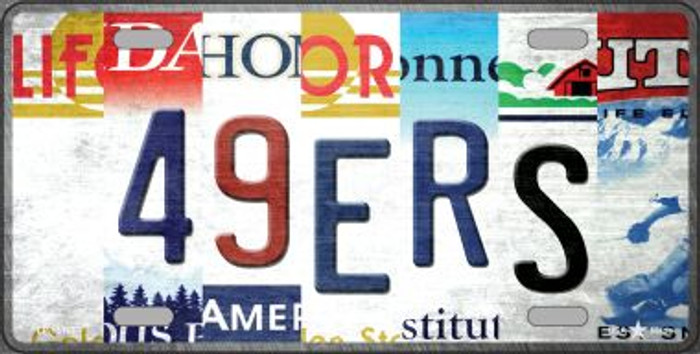 49ers Strip Art Novelty Metal License Plate Tag LP-13167