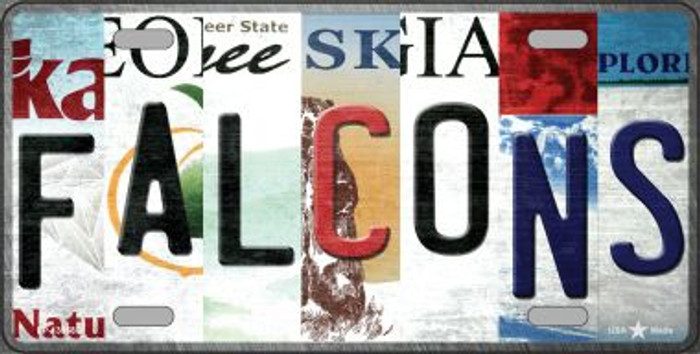 Falcons Strip Art Novelty Metal License Plate Tag LP-13168