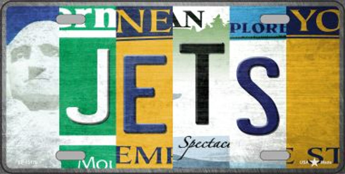 Jets Strip Art Novelty Metal License Plate Tag LP-13170