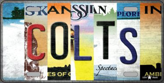 Colts Strip Art Novelty Metal License Plate Tag LP-13173