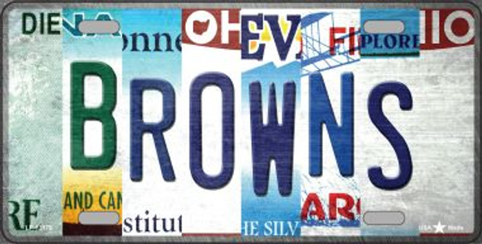 Browns Strip Art Novelty Metal License Plate Tag LP-13175