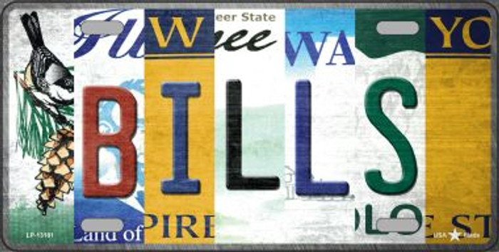 Bills Strip Art Novelty Metal License Plate Tag LP-13181