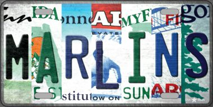 Marlins Strip Art Novelty Metal License Plate Tag LP-13193