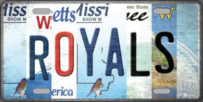 Royals Strip Art Novelty Metal License Plate Tag LP-13195