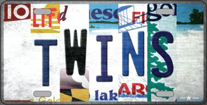 Twins Strip Art Novelty Metal License Plate Tag LP-13198