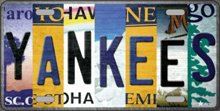 Yankees Strip Art Novelty Metal License Plate Tag LP-13200