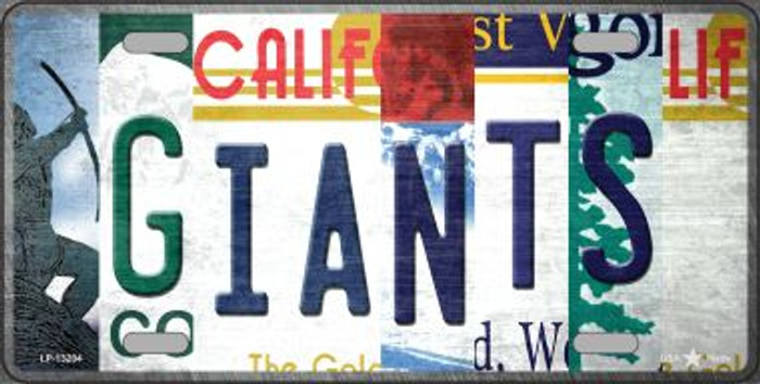 Giants Strip Art Novelty Metal License Plate Tag LP-13204