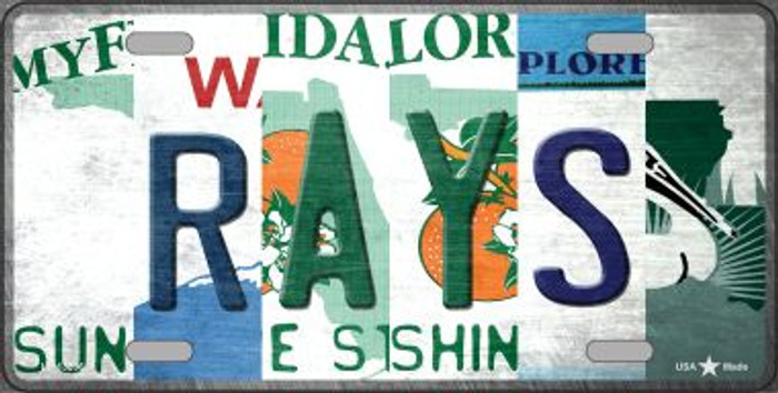 Rays Strip Art Novelty Metal License Plate Tag LP-13206