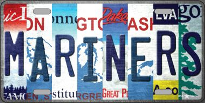 Mariners Strip Art Novelty Metal License Plate Tag LP-13209
