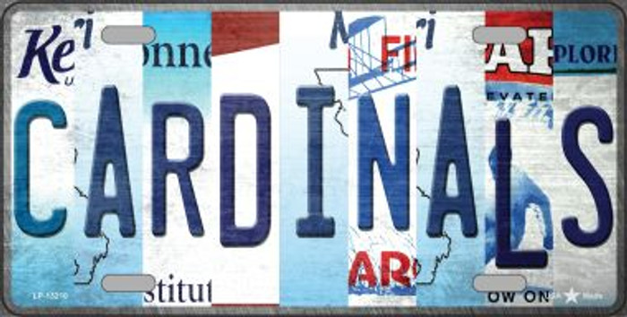 Cardinals Strip Art Novelty Metal License Plate Tag LP-13210
