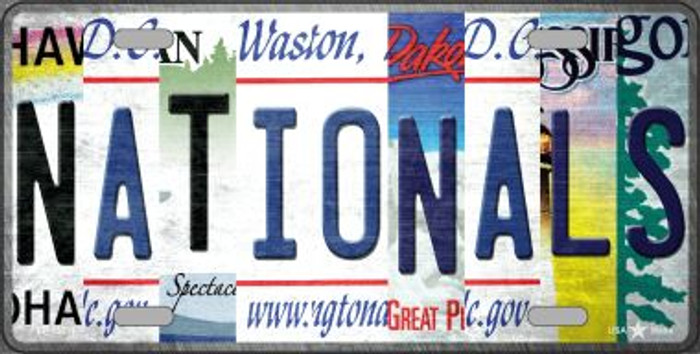 Nationals Strip Art Novelty Metal License Plate Tag LP-13211