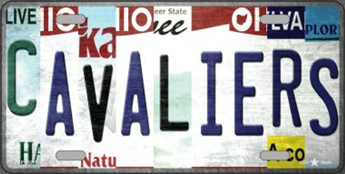 Cavaliers Strip Art Novelty Metal License Plate Tag LP-13215