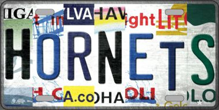 Hornets Strip Art Novelty Metal License Plate Tag LP-13216