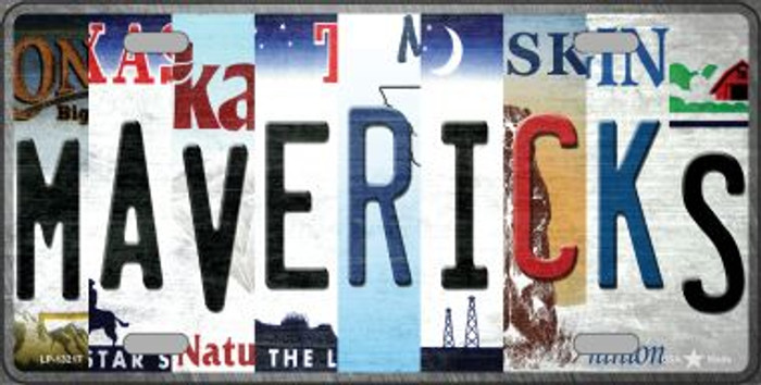 Mavericks Strip Art Novelty Metal License Plate Tag LP-13217