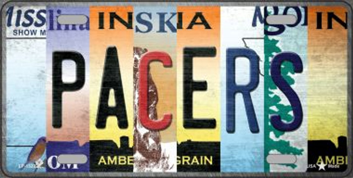 Pacers Strip Art Novelty Metal License Plate Tag LP-13222