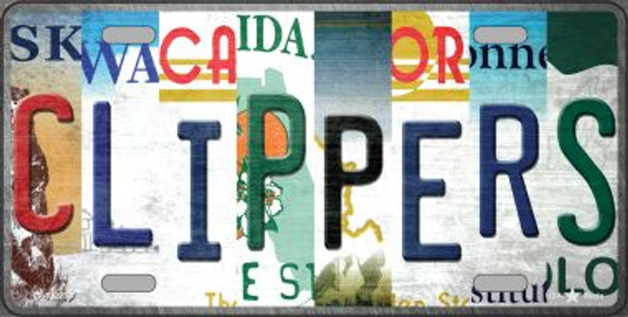 Clippers Strip Art Novelty Metal License Plate Tag LP-13223