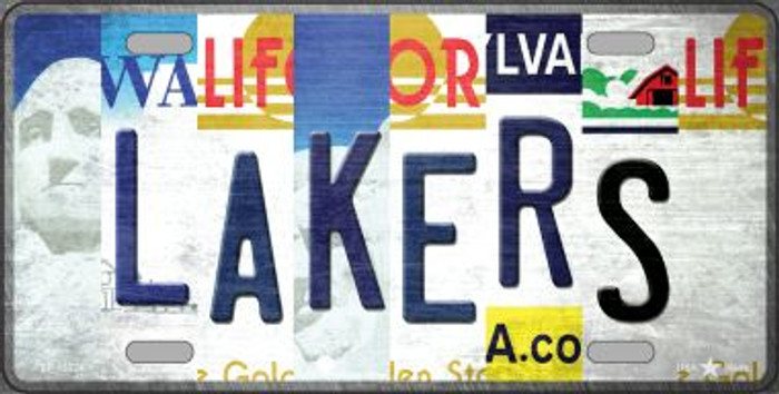 Lakers Strip Art Novelty Metal License Plate Tag LP-13224