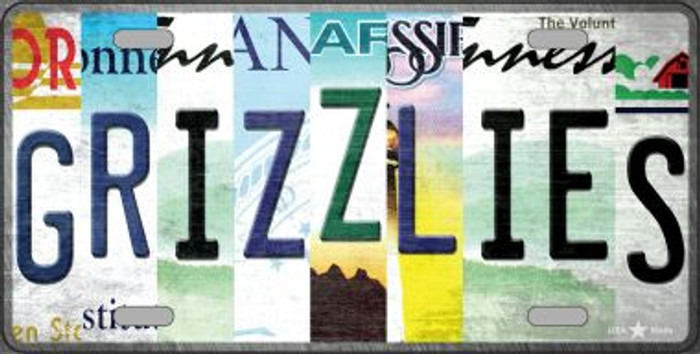 Grizzlies Strip Art Novelty Metal License Plate Tag LP-13225