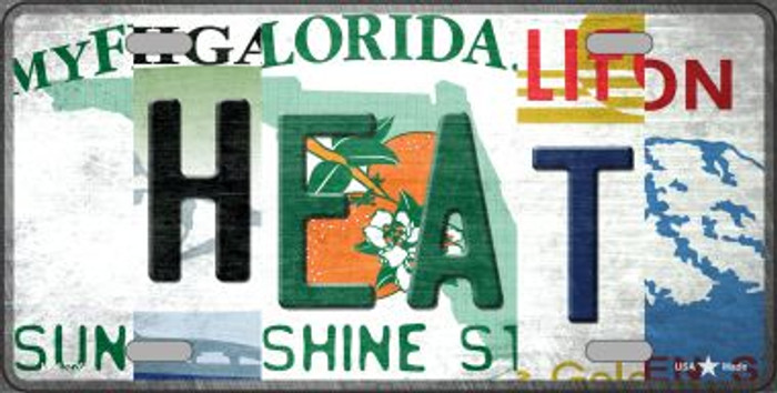 Heat Strip Art Novelty Metal License Plate Tag LP-13226