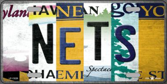 Nets Strip Art Novelty Metal License Plate Tag LP-13229