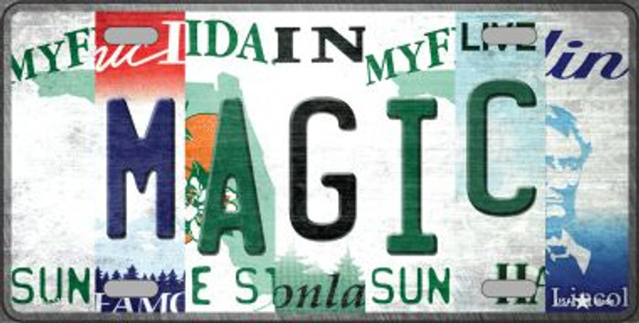 Magic Strip Art Novelty Metal License Plate Tag LP-13232