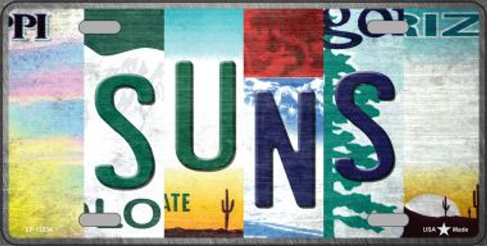 Suns Strip Art Novelty Metal License Plate Tag LP-13234