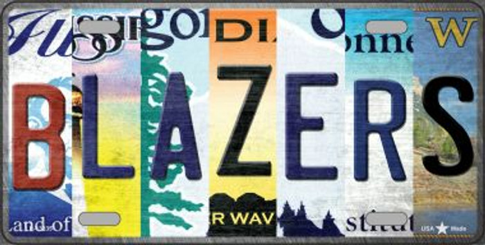 Blazers Strip Art Novelty Metal License Plate Tag LP-13235