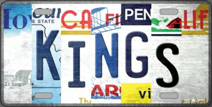 Kings Strip Art Novelty Metal License Plate Tag LP-13236