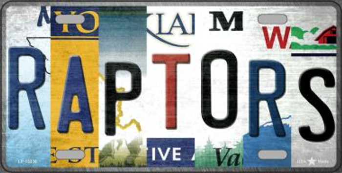 Raptors Strip Art Novelty Metal License Plate Tag LP-13238