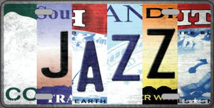 Jazz Strip Art Novelty Metal License Plate Tag LP-13239