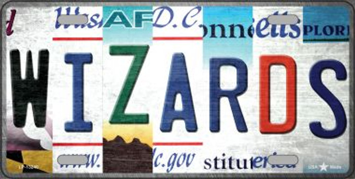 Wizards Strip Art Novelty Metal License Plate Tag LP-13240