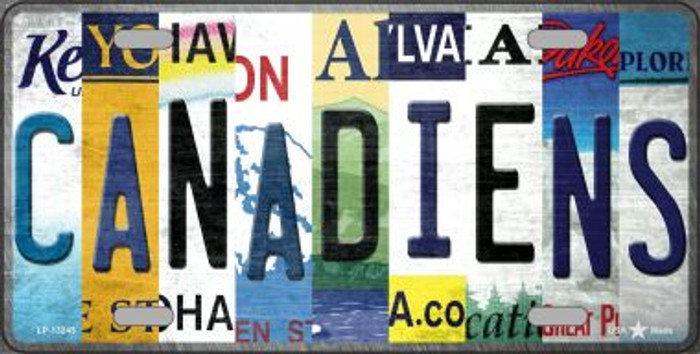 Canadiens Strip Art Novelty Metal License Plate Tag LP-13245