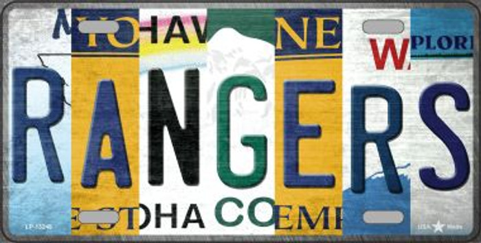 Rangers Strip Art Novelty Metal License Plate Tag LP-13248