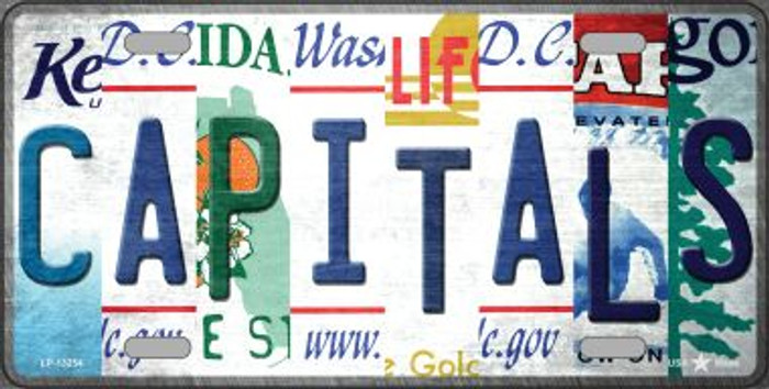 Capitals Strip Art Novelty Metal License Plate Tag LP-13254