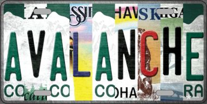 Avalanche Strip Art Novelty Metal License Plate Tag LP-13259