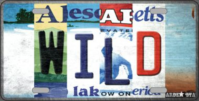 Wild Strip Art Novelty Metal License Plate Tag LP-13265