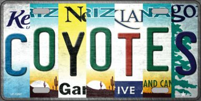 Coyotes Strip Art Novelty Metal License Plate Tag LP-13267