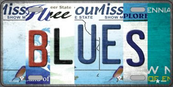 Blues Strip Art Novelty Metal License Plate Tag LP-13269