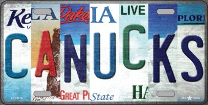 Canucks Strip Art Novelty Metal License Plate Tag LP-13270