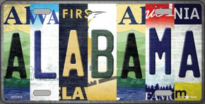 Alabama Strip Art Novelty Metal License Plate Tag LP-13272