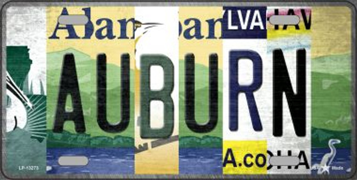 Auburn Strip Art Novelty Metal License Plate Tag LP-13273