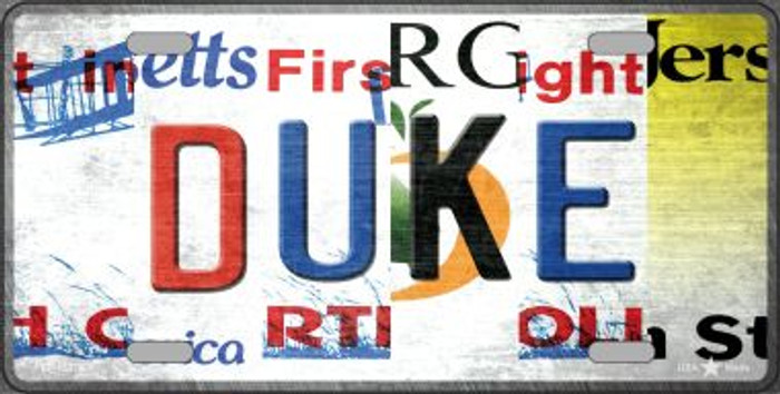 Duke Strip Art Novelty Metal License Plate Tag LP-13276