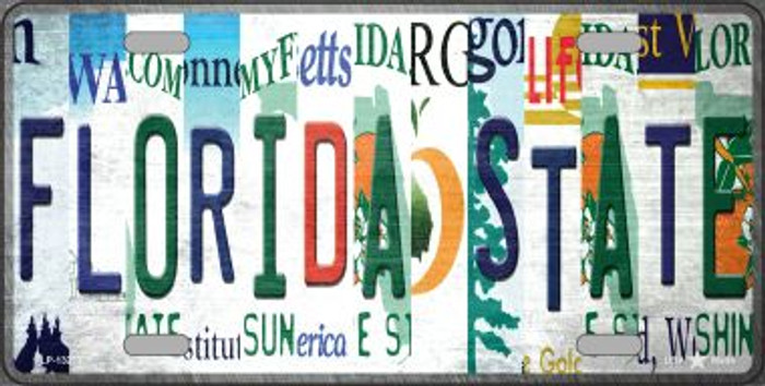Florida State Strip Art Novelty Metal License Plate Tag LP-13277