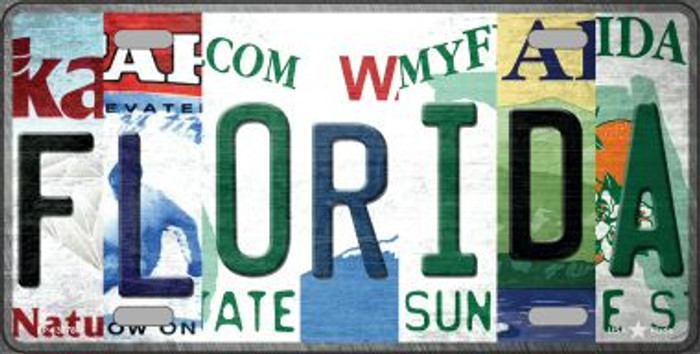 Florida Strip Art Novelty Metal License Plate Tag LP-13278
