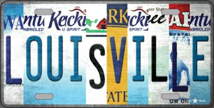 Louisville Strip Art Novelty Metal License Plate Tag LP-13283