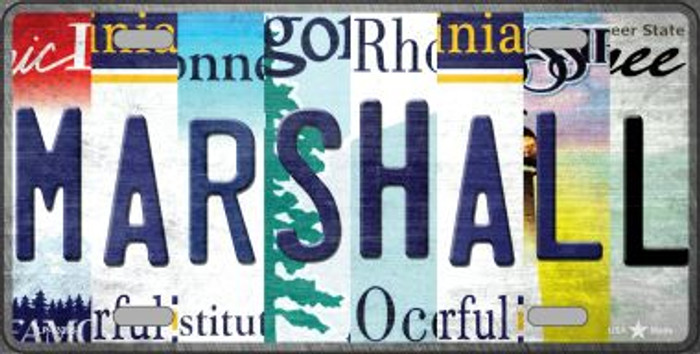 Marshall Strip Art Novelty Metal License Plate Tag LP-13285