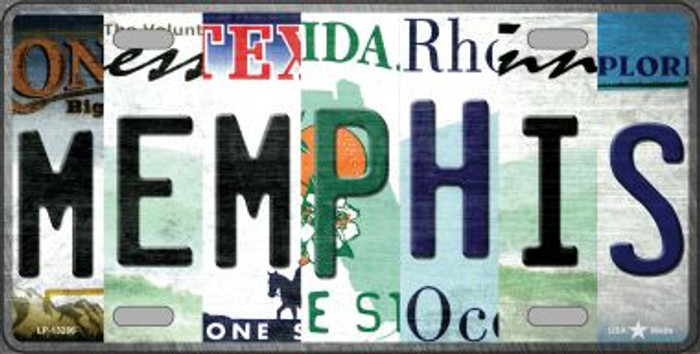 Memphis Strip Art Novelty Metal License Plate Tag LP-13286
