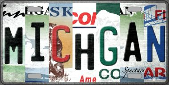 Michigan Strip Art Novelty Metal License Plate Tag LP-13289