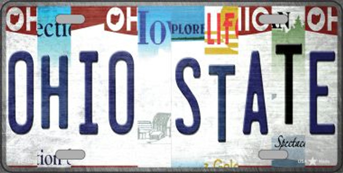 Ohio State Strip Art Novelty Metal License Plate Tag LP-13293